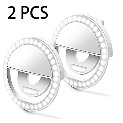 Selfie Ring Lights - Vimbo 2PCs Selfie Artifact Selfie Ring Flash Led Fill Light - Mobile Flashes Selfie Light - Camera Photography Video Spotlight for iPhone Android Phone by Vimbo