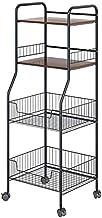 Home Living Museum/Metal Kitchen Rack Floor Multi Layer Household Goods Storage Storage Basket Put Fruit and Vegetable Bas...