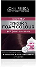 John Frieda Precision Foam Colour, Deep Cherry Brown 3VR, Full-coverage Hair Color Kit, with Thick Foam for Deep Color Saturation