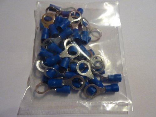 50 Stück Ringkabelschuh Ring M 8 blau für Kabel 1,5-2,5mm