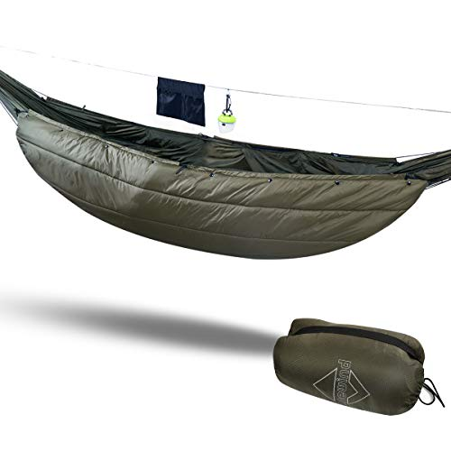 onewind Underquilt Double Hammock Camping Insulation Night Protector,35-50 Degrees,3 Season Warm Sleeping Quilt