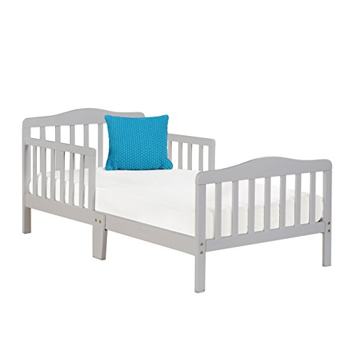 Sturdy Wooden Frame for Extra Safety Great for Boys and Girls Full Bed Frame With Headboard Big Oshi Contemporary Design Toddler /& Kids Bed Cherry Modern Slat Design