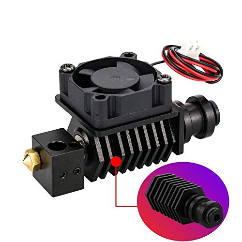 XIAOMINDIAN 3D Printer BP6 Hotend Kit J-Head Extruder Parts 0.4mm 1.75mm Nozzle High Temp and Low Temp Replace V6 Accessories Printer Parts (Color : Full Kits 24V)