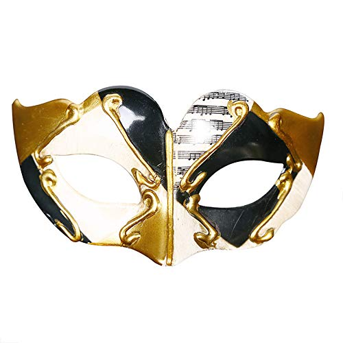 Vetasac Venetian Masquerade Mask for Child Half Face Party Halloween Mardi Gras Christmas Carnivals Cosplay Costume Masks XP005 (Black)