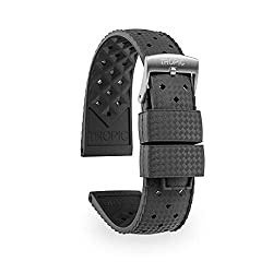 Tropic Rubber Watch Band, (Dive Watch Strap) (20mm, Anthracite)