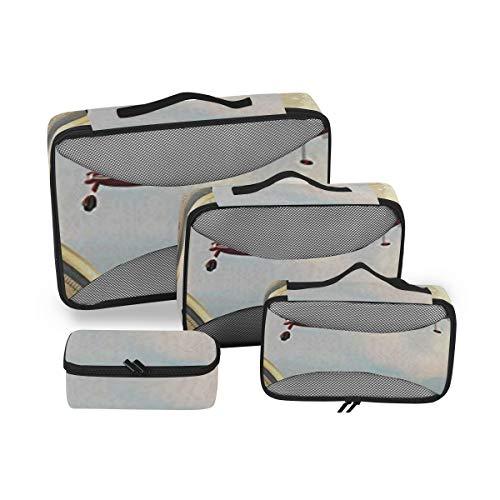 Adventure 4pcs Large Travel Toiletry Bag for Women Big Wash Bags Hair Dryer Case Multi-Use Toiletries Kit Cosmetics Makeup Bathroom Organizer Suitcase Luggage