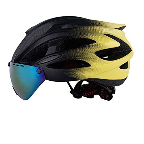 Casco Smart Bici, Casco Smart Bici Bluetooth, Casco Bici con Luce di Sicurezza E Visiera Scudo,...