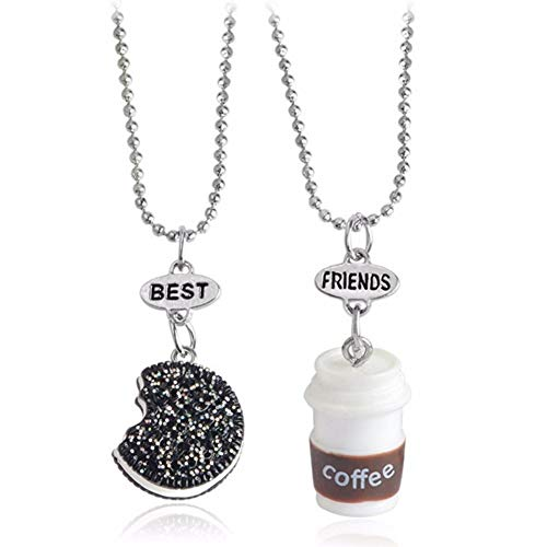 Urns Ashes Funeral Charming Necklace for Women & 2Pcs/Set Cookie Coffee Bead Chain Necklaces Best Friends Kids Jewelry, Best Gift for Her,Colour:OneColor Pet Memorial Dog cat Urn (Color : OneColor)