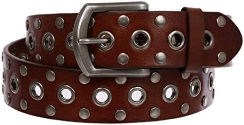 Silver Rivets belt 80s 37/'/'-41/'/' Pink Riveted Belt for women Studded Riveted Belt
