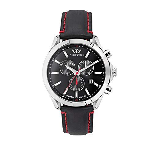 PHILIP WATCH R8271665007 - Orologio da polso da uomo Blaze, cronografo, al quarzo, in pelle