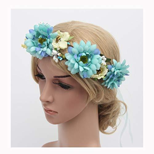 LYM Fleur Couronne Guirlande Bandeau Guirlande Mariage Festival Cheveux Accessoires (Couleur : A)