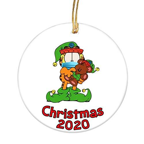 Christmas 2020 Ornament Social Distancing Ornament Garfield Lovers Gifts Christmas Tree Decor