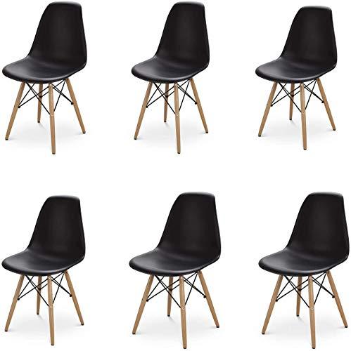 Restaurante moderno y su dormitorio, una cómoda silla de madera es perfecto para su hogar,Black