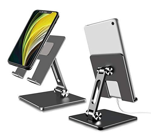 FitOkay Supporto Tablet, Supporto Tablet Regolabile in Alluminio- Universale Stand Dock per 2021 iPad PRO 12.9/ 9.7/10.5, iPad Mini 2 3 4, iPad Air, Air 2, iPhone, Samsung, Nintendo Switch Tablet