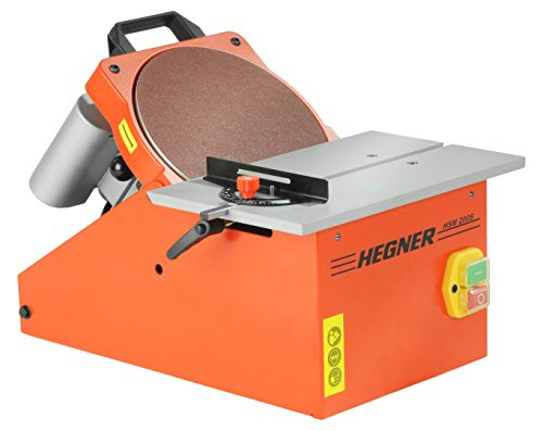 Hegner Scheibenschleifmaschine HSM 200 S (Schleifkörper schwenkbar, mit Absaugsystem, Schleifneigung 45°, 230 V) 30100000