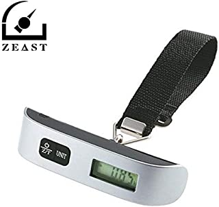 GOUSHUEI 110 lb/50 kg New Portable Hand Held Hook Belt Electronic Scale Digital Luggage Travel Suitcase Hanging Scales Weighing balance