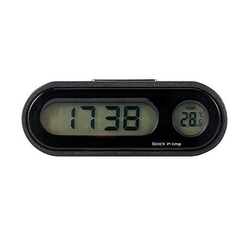 Auto Uhr, ONEVER Auto Digitaluhr mit Thermometer Mini Fahrzeug Armaturenbrett Uhr (Auto-Digitaluhr-Thermometer)