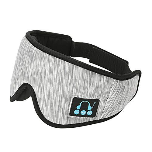 ZLDMYC 5.0 Headset drahtlose Bluetooth Anruf Musik Schlaf Artifact Breath 3D-Augen-Schablonen-Kopfhörer intelligente Musik Schlaf Brille hilf beim schlafen (Color : 3D White)