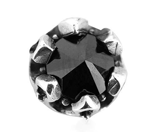 FAYFMA 925 Pendientes de Plata esterlina de Piedras Preciosas de Plata de Ley 925, Hombres y Mujeres Pendientes de Punk Personalidad Pendientes de Plata