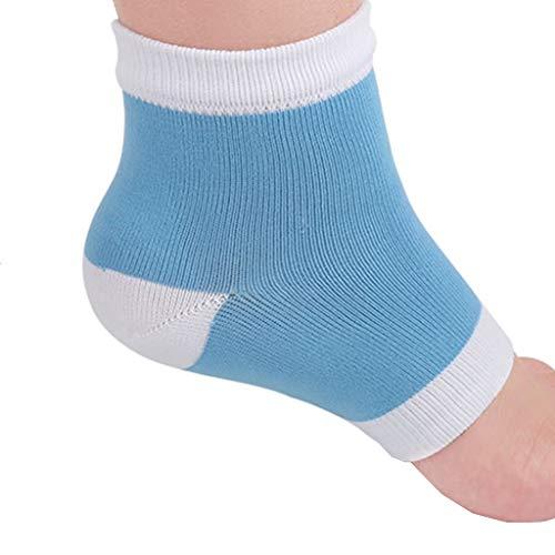 DOLDOA Socken Strümpfe,Feuchtigkeitsspendende Gel-Fersensocken-Socken mit halbem Absatz und vierfarbigen SPA-Socken (Blau)