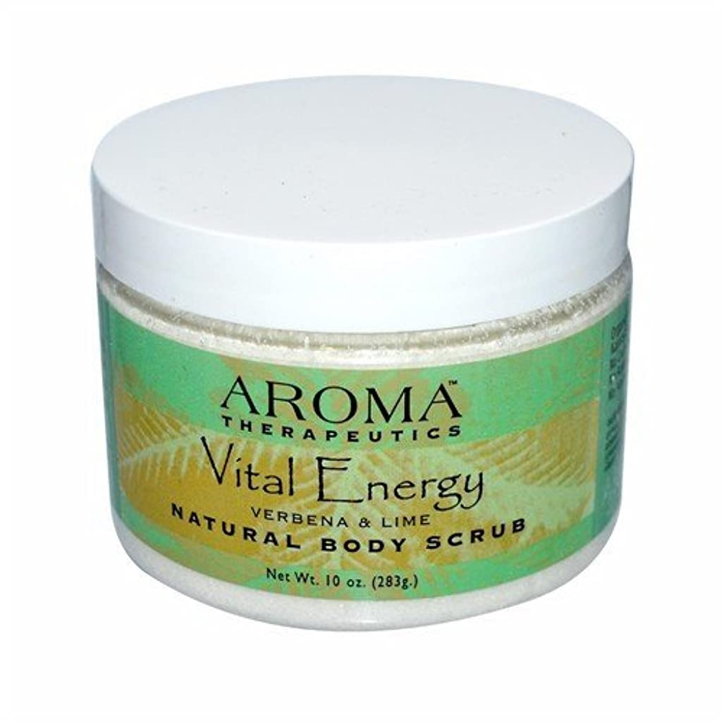 絞る裁量彼自身Abra Therapeutics, Natural Body Scrub, Vital Energy, Verbena & Lime, 10 oz (283 g)