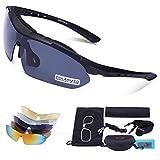Carfia Multi TR90 UV 400 Outdoor Sport Brille Polarisiert Sonnenbrille Radbrille mit 5 wechselbare...