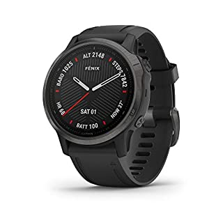 Garmin fenix 6S Sapphire, Premium Multisport GPS Watch, Smaller-Sized, Features Mapping, Music, Grade-Adjusted Pace Guidance and Pulse Ox Sensors, Carbon Gray DLC with Black Band (B07W3Q2R6L) | Amazon price tracker / tracking, Amazon price history charts, Amazon price watches, Amazon price drop alerts
