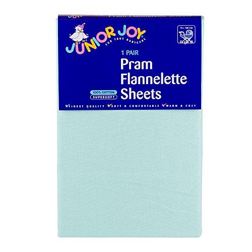 Junior Joy Pram Flanelle Sheet Menthe