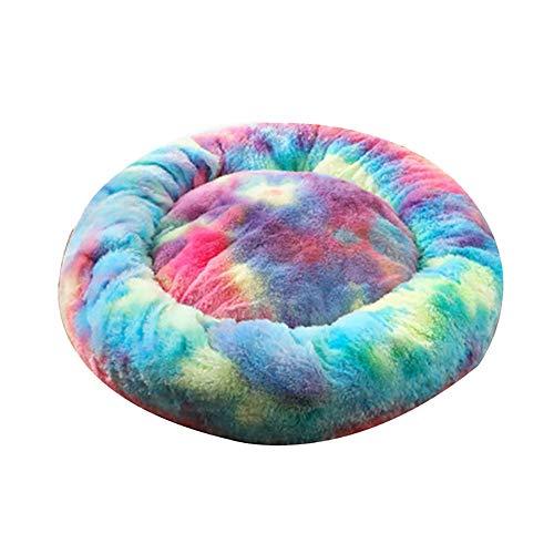 HOWNY Haustier Hundebett Mat Round Step-On Plüsch Matratze Warm Pet Bed für Hunde Katzen Tierzubehör