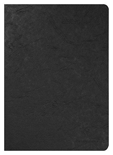 Clairefontaine 733001C - Cuaderno interior liso, 96 páginas, color negro