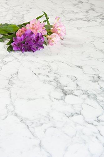 WORKTOPEXPRESS Weißer Marmor - Resopal Küchenarbeitsplatten (Rückwand 3m × 650mm × 13mm)