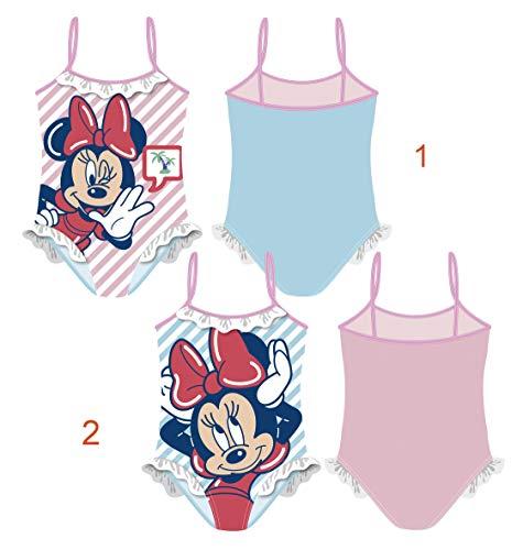 Minnie Maus Badeanzug AUSWAHL Bikini Beachware Bademode Kinderkleidung Minnie Mouse (Hinten Blau, 2 Jahre)