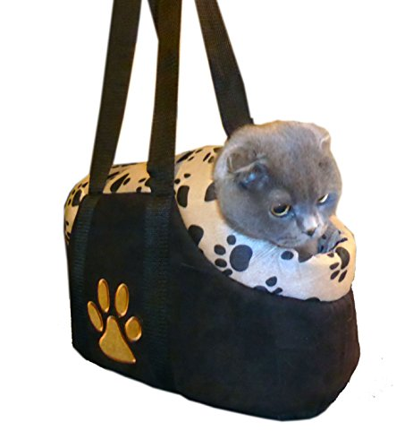 HDP Paw Style Small Pet CARRIER Color:Beige Size:Medium
