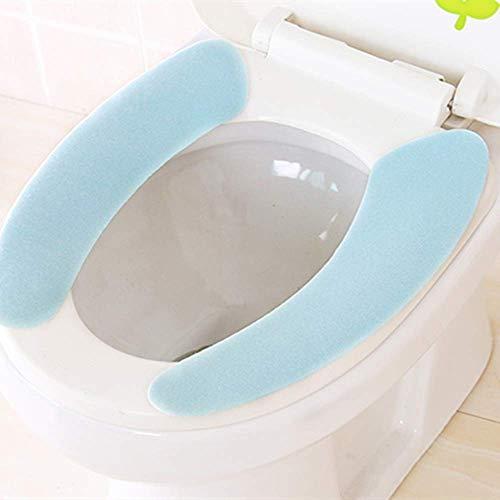 Asiento de inodoro de pasta blanda Asiento de inodoro multicolor lavable Baño Cubierta de asiento caliente Asiento de inodoro Cojín de asiento adhesivo