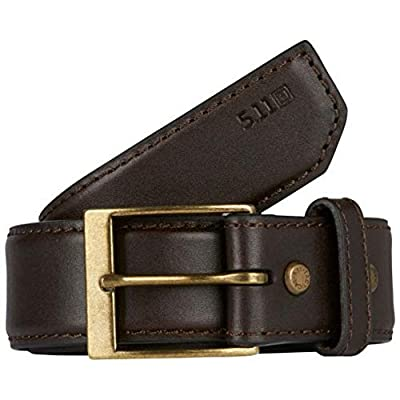 """5.11 Tactical Men's 1.5"""" Casual Leather Belt - Plainclothes Duty or Covert Operations, Style 59501, X-Large, Classic Brown"""