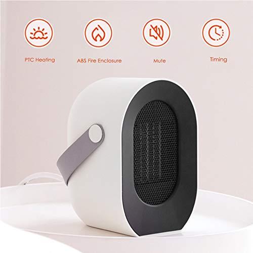 KOKIN Keramische draagbare kachel elektrische mini-warmtestraler, oscillatiefunctie, instelbare thermostaat, bescherming tegen oververhitting, energiebesparende ventilator voor op kantoor en thuis