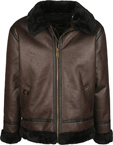 ALPHA INDUSTRIES Herren B3 FL, Deep Brown, L
