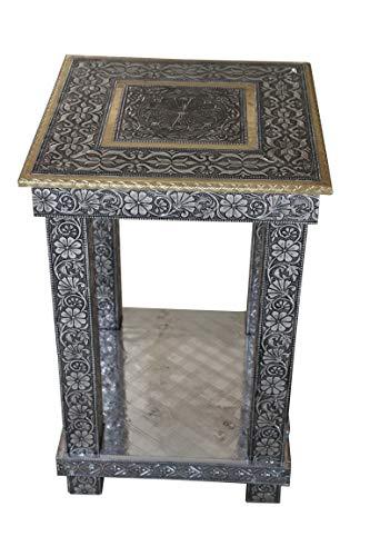 Bir Kraft | 18' x 18' x 30' Hallway Bedroom Living Room Side End Table | Bedside Unit in Stunning Oxidised Copper Plating