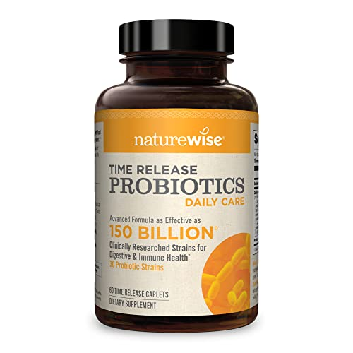 NatureWise Daily Probiotics for Women and Men   Time-Release,...