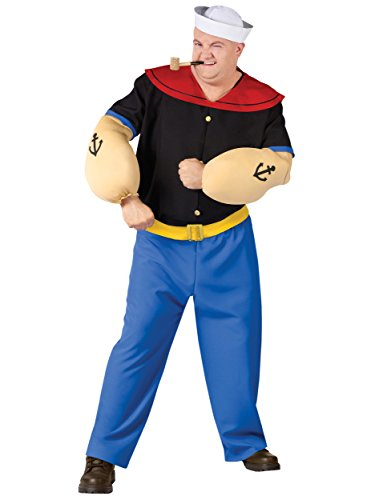 Fun World 102725PFW Mens Plus Size Costume Popeye