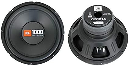 $114 » 2 JBL CS1214 12 inches 2000W Car Subwoofers Power Subs Audio Woofers 4 Ohm SVC Black (Renewed)