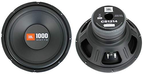 2 JBL CS1214 12 inches 2000W Car Subwoofers Power Subs Audio Woofers 4 Ohm SVC Black (Renewed)