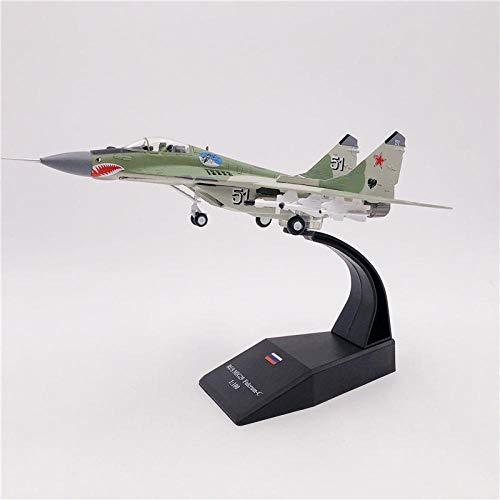 Yufei - Modelo de avión de metal fundido a presión a escala 1: 100 ruso MIG-29 modelo de caza avión colección regalo