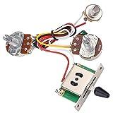 Uayasily Guitarra Arnés De Cableado Set, Haz De Cables 3 Ollas Interruptor De Tres Vías Cuadro Conmutador 1t1v para La Guitarra Eléctrica