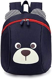 حقيبة ظهر للأطفال الرضع المضادة للضياع لطيف الحيوان الأطفال رياض الأطفال الدب حقيبة المدرسة (الأزرق الداكن)