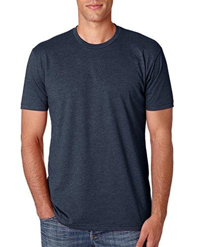 Next Level Apparel Men's CVC Crewneck Jersey T-Shirt, Midnight NVY, X-Large