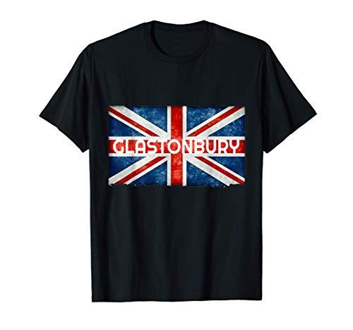 Glastonbury England UK Flag T-Shirt