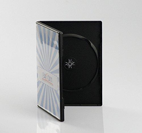 Bulk - Set de cajas dobles para CD/DVD (50 unidades, 14 mm, con bolsillo transparente para carátula)