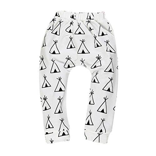 kingko® Garçons Filles Bébés Pantalons Bas Pantalon Sarouel PP Enfants Leggings (12-24 Mois, Noir)