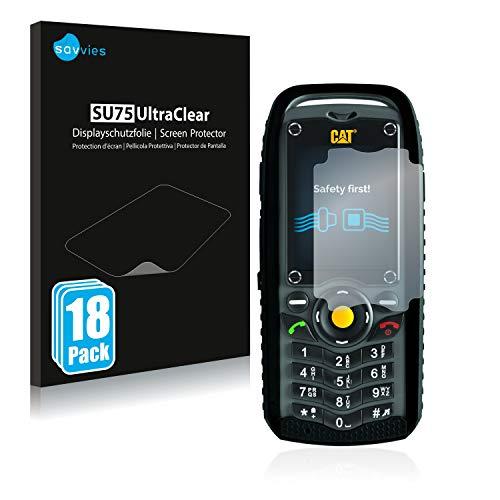 Savvies 18x Schutzfolie kompatibel mit Caterpillar Cat B25 Bildschirmschutz-Folie Ultra-transparent